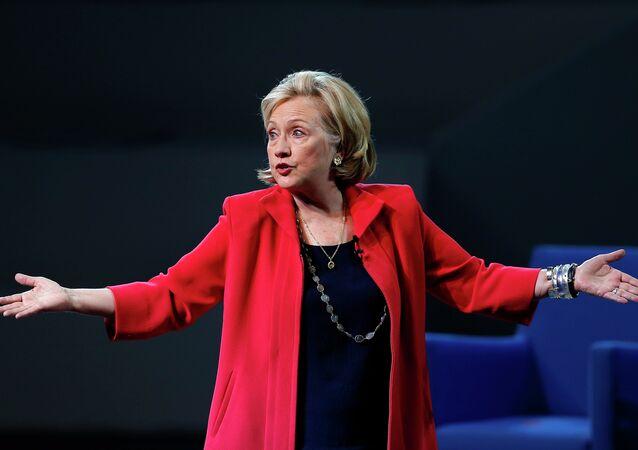 la candidate démocrate à la présidentielle américaine Hillary Clinton
