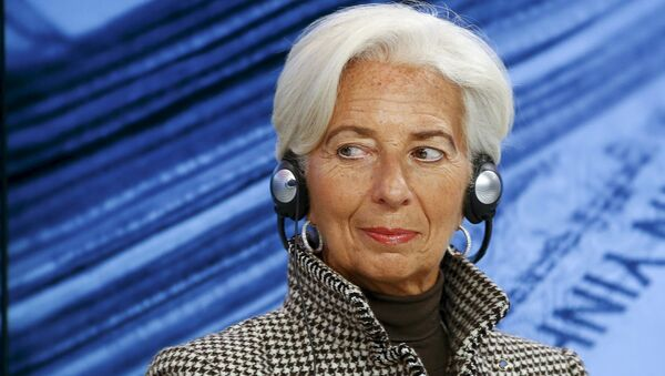 International Monetary Fund (IMF) Managing Director Christine Lagarde attends the session Where Is the Chinese Economy Heading? of the annual meeting of the World Economic Forum (WEF) in Davos, Switzerland in this January 21, 2016 file photo - Sputnik France