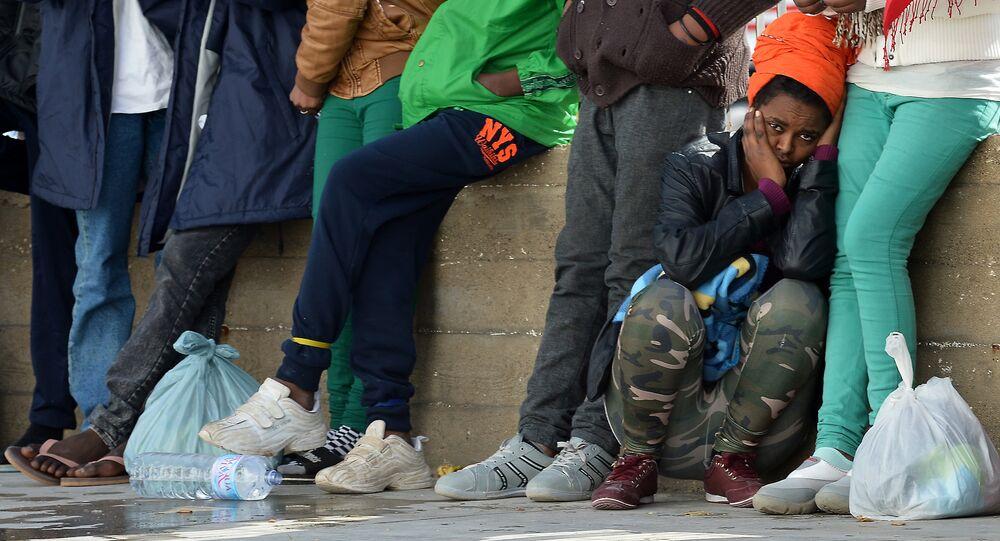 Migrants à Lampedusa en 2015