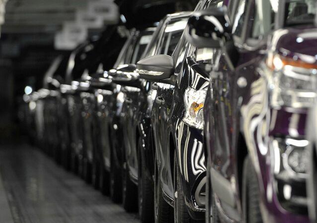 Une usine automobile