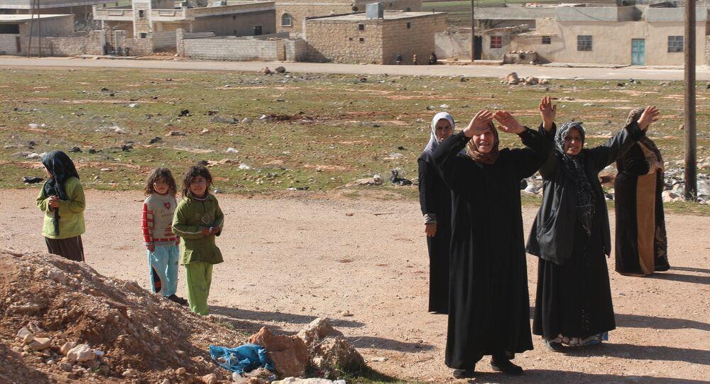 ville libérée Nobel et Zahra à Alep en Syrie