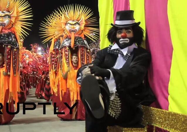 Le sambadrome du carnaval de Rio de Janeiro