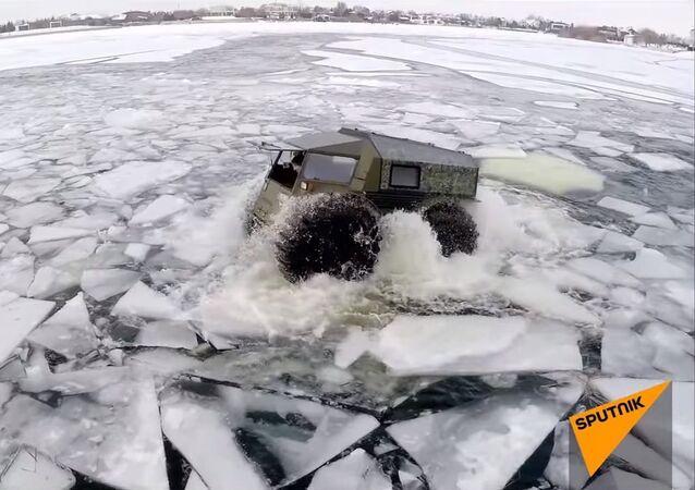 Le nouveau véhicule tout terrain russe Sherp