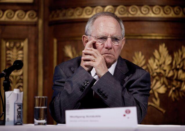 Le ministre allemand des Finances Wolfgang Schäuble