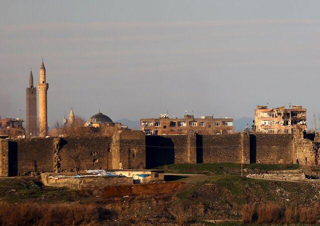 Le quartier de Sur, à Diyarbakir, endommagé lors de l'opération militaire turque