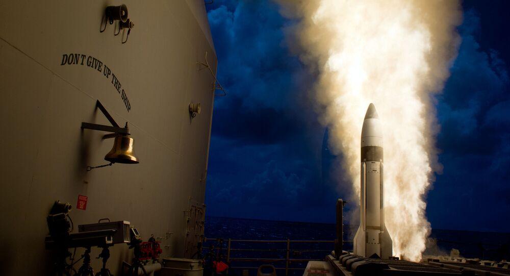 Missile ballistique Missile-3 (SM-3). Archive photo