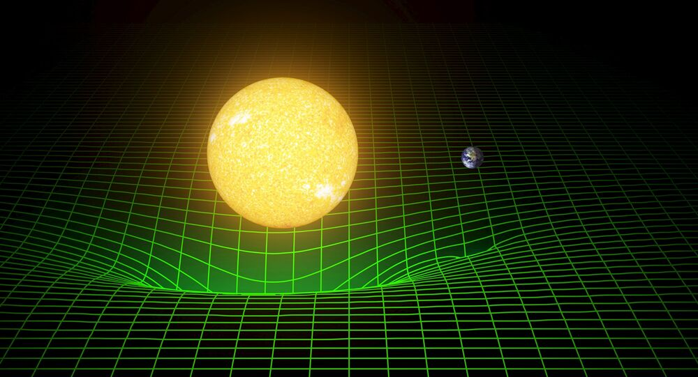 Ondes gravitationnelles. Image d'illustration