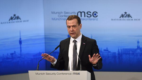 Dmitri Medvedev s'exprime à l'occasion de la Conférence sur la sécurité de Munich - Sputnik France