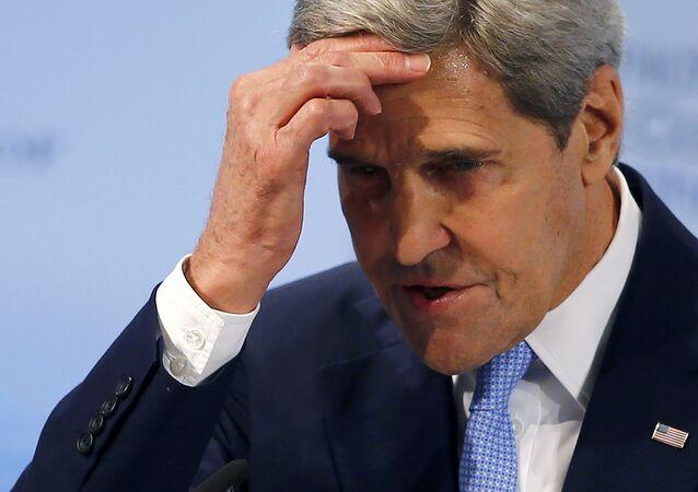 Le secrétaire d'Etat américain John Kerry lors de la Conférence de Munich sur la sécurité