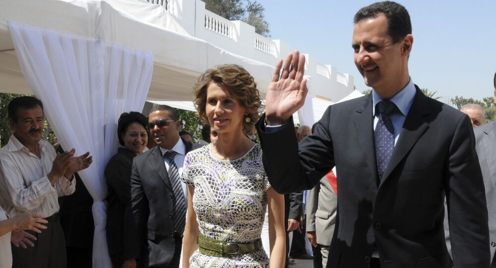 Syrian President Bashar Assad and his wife Asma Assad. (File)