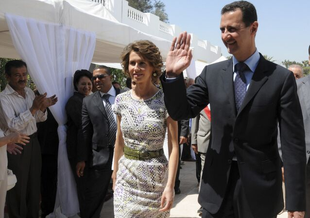 Syrian President Bashar Assad and his wife Asma Assad. (File)