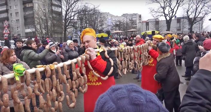 Journée du long saucisson 2016 à Kaliningrad