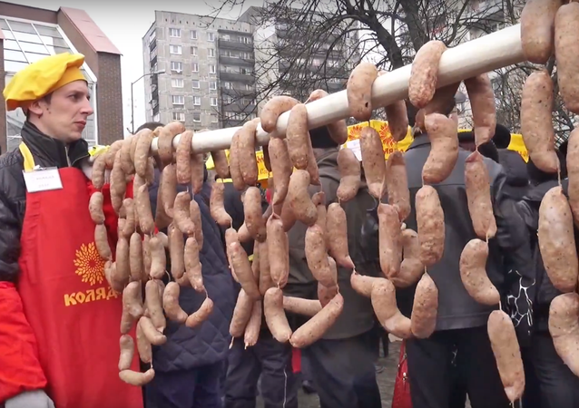 La Journée du long saucisson à Kaliningrad