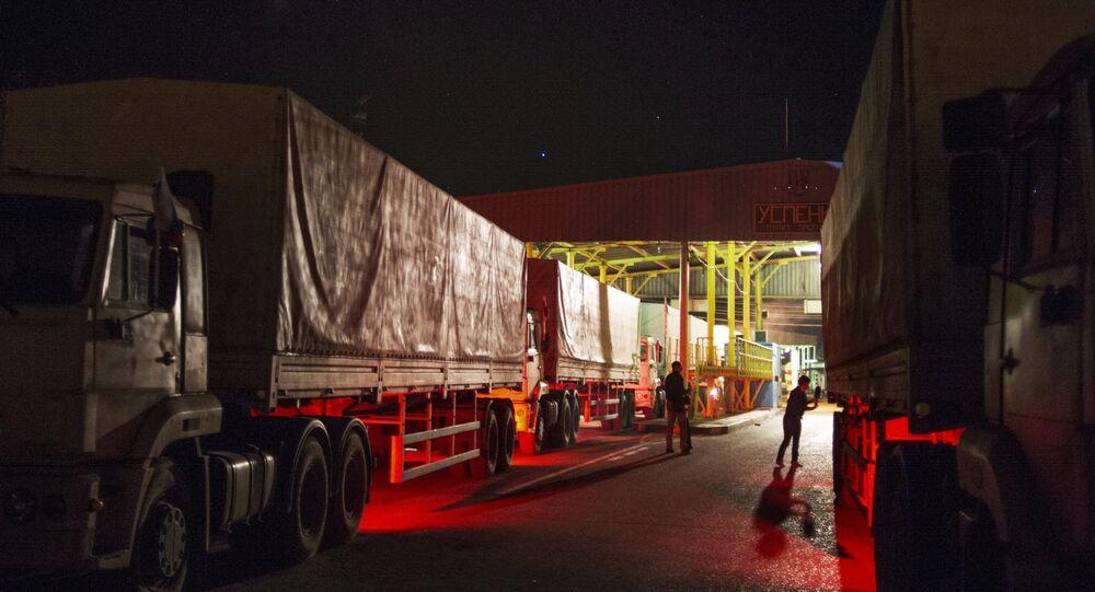 Le blocus des camions russes en Ukraine maintenant officiel