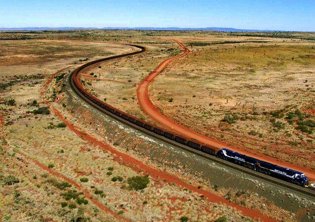 Le train en Australie. Photo d'archives