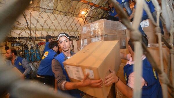 La distribution de l'aide humanitaire en Syrie, image d'illustration - Sputnik France
