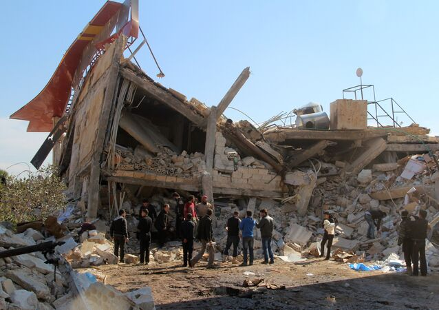 Ruines d'un hôpital soutenu par MSF dans la province syrienne d'Idleb