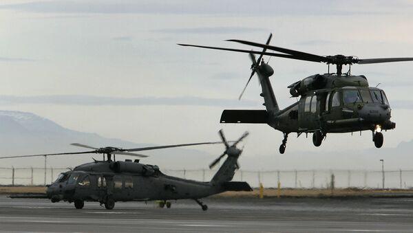 Helicopters make a training flight at the Keflavik US Air Base, Keflavik, Iceland, Friday Feb. 24, 2006 - Sputnik France