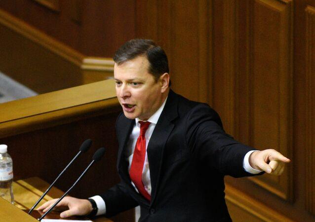 Oleg Liachko, leader du Parti radical, au parlement ukrainien