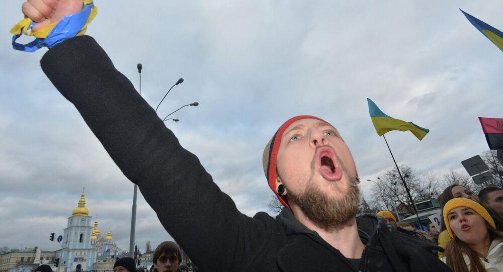 Un meeting de protestation à Kiev