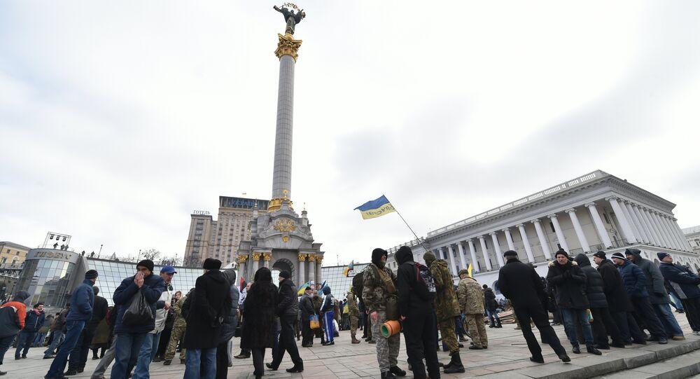 le meeting antigouvernemental, Kiev