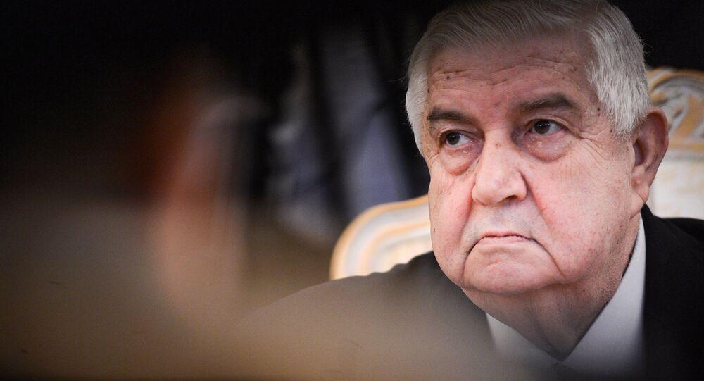 ministre syrien des affaires étrangères Walid Mouallem