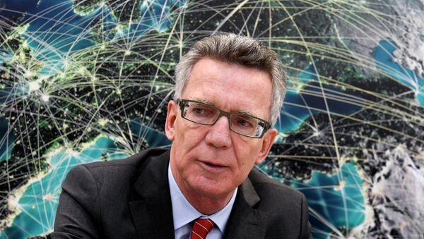 Le ministre allemand de l'Intérieur Thomas de Maizière - Sputnik France