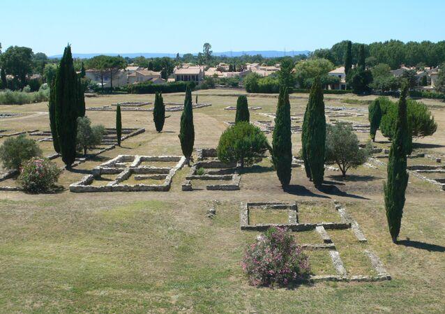Lattes - Vue du site archéologique de Lattara