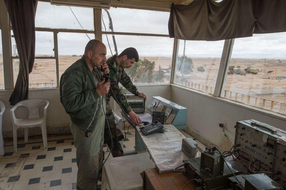 La base des forces aériennes syriennes dans la province de Homs