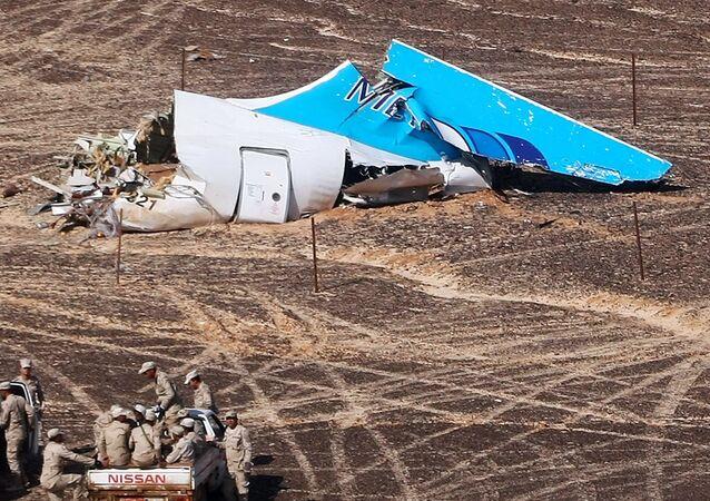 Les débris de l'A321 russe