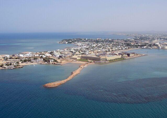 Une vue aérienne de Djibouti