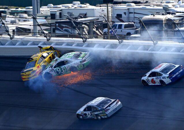 Un accident pendant le Daytona 500 (photo d'archives)
