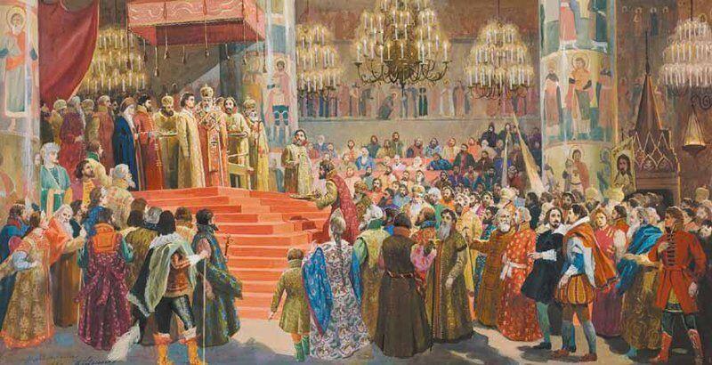 Le couronnement de Michel de Russie le 11 juillet 1613.