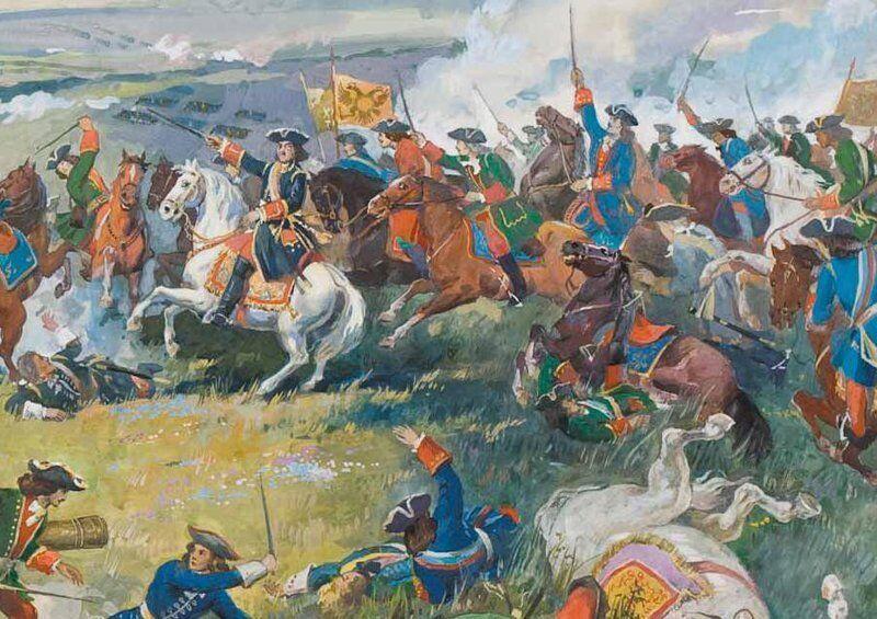 La bataille de Poltava le 27 Juin 1709.