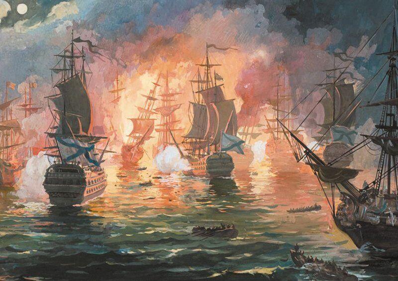 Bataille de Tchesmé (1770).
