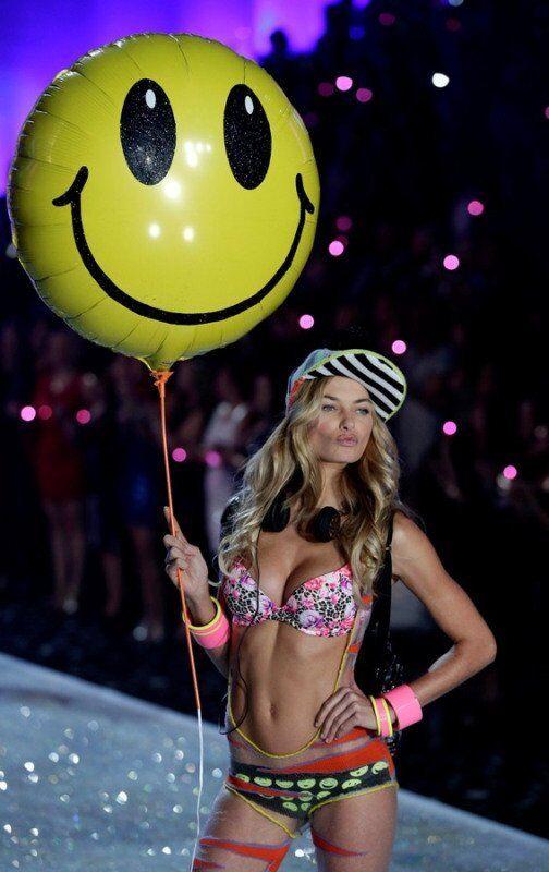 Une top-modèle lors du défilé Victoria's Secret 2013.