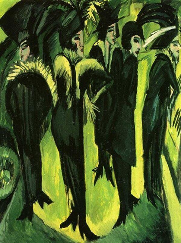 Ernst Ludwig Kirchner Cinq femmes dans la rue - Sputnik France