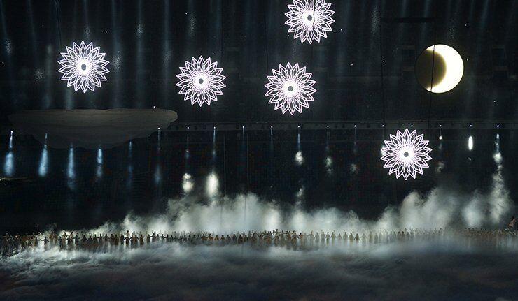 La cérémonie d'ouverture des Jeux Olympiques d'hiver à Sotchi