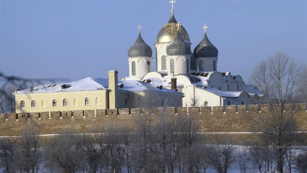 La cathédrale Sainte-Sophie et le kremlin de Novgorod - Sputnik France