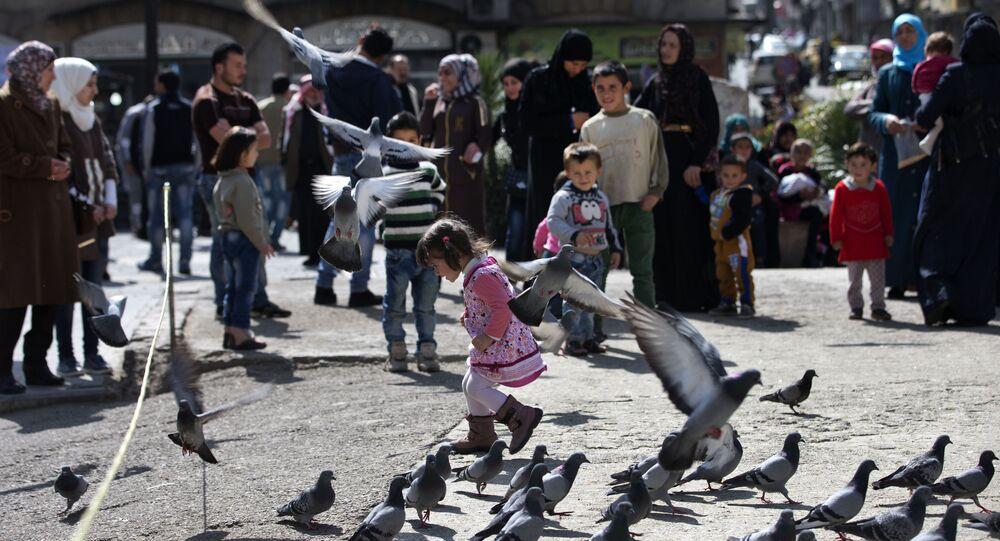 Une fille syrienne à Damas