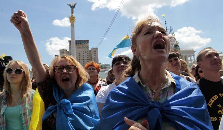 Ukraine: les manifestants du Maïdan à Kiev