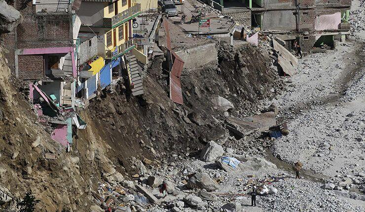 Glissement de terrain en Inde.