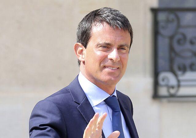 Le permier ministre français Manuel Valls