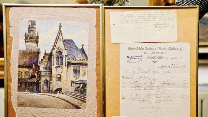 Une aquarelle signée Hitler vendue 130.000 euros aux enchères