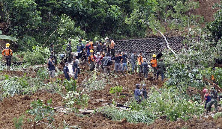 Un glissement de terrain en Indonésie