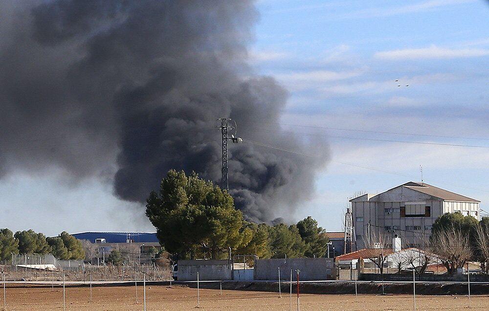 Le crash d'un F-16 Grec en Espagne