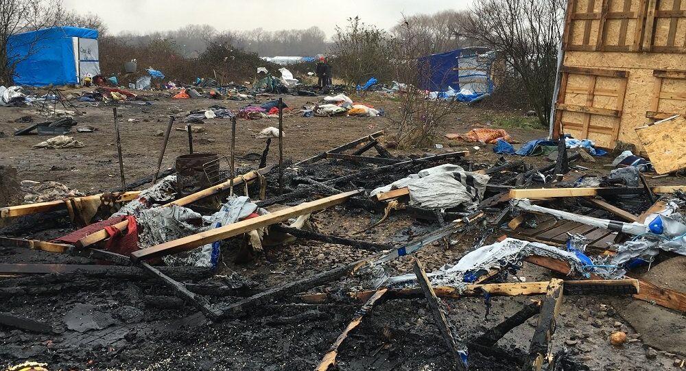 Le camp de migrants à Calais