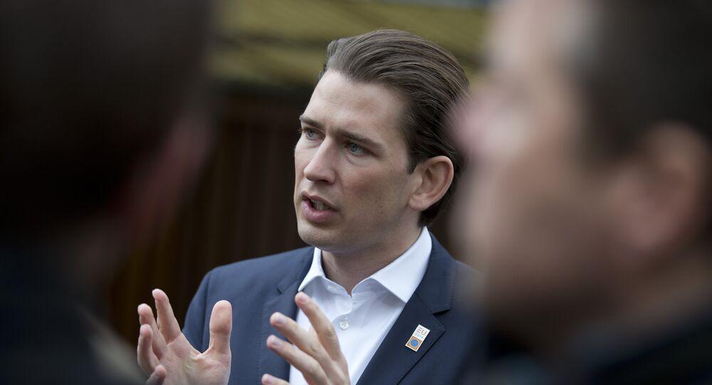 le chef de l'ÖVP, Sebastian Kurz