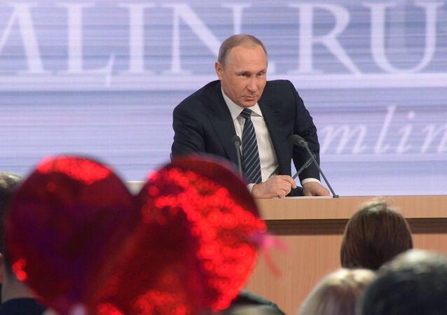président russe Vladimir Poutine, conférence de presse