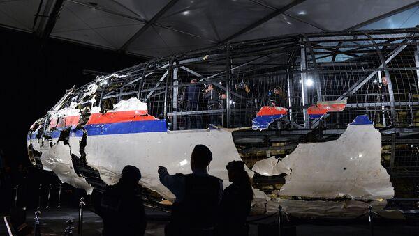 Reconstitution du fuselage du Boeing malaisien abattu dans le ciel du Donbass - Sputnik France